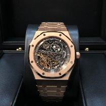 Audemars Piguet Royal Oak Double Balance Wheel Openworked Oro rosa 41mm Transparente Sin cifras
