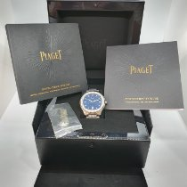 Piaget Polo S pre-owned 42mm Blue Date Steel
