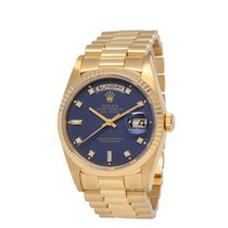 Rolex Day-Date 36 Yellow gold 36mm Blue United States of America, New York, Hartsdale