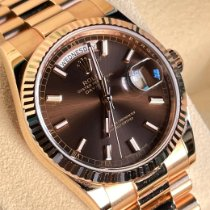 Rolex Rose gold Automatic Brown 36mm new Day-Date 36