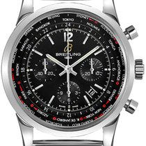Breitling Transocean Unitime Pilot Steel 46mm Black No numerals United States of America, New Jersey, Princeton