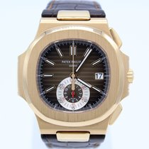 Patek Philippe Nautilus pre-owned 40.5mm Brown Chronograph Leather
