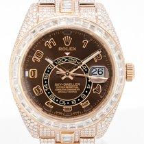 Rolex Sky-Dweller Oro rosa 42mm Marrón Romanos