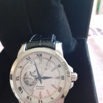 Seiko Premier Automatic pre-owned 41mm Silver Leather