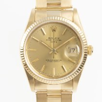 Rolex pre-owned Automatic 34mm Gold Sapphire crystal