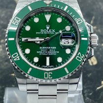 Rolex Submariner Date Acier 40mm Vert Sans chiffres