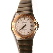 Omega Constellation Ladies pre-owned 37mm Silver Date Gold/Steel