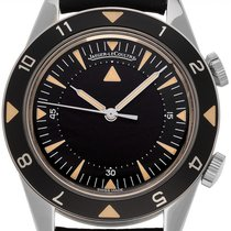 Jaeger-LeCoultre Memovox Tribute to Deep Sea pre-owned 40mm Black Alarm Leather