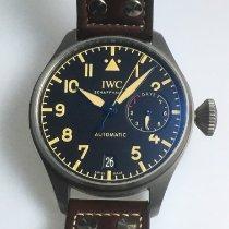 IWC 빅 파일럿 티타늄 46.2mm 검정색 아라비아 숫자