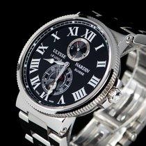 Ulysse Nardin Marine Chronometer 43mm Сталь 43mm Черный Римские