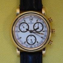 Michel Herbelin Newport (submodel) pre-owned 39mm Chronograph Date Tachymeter Lizard skin