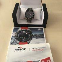 Tissot T-Touch Expert Solar подержанные 45mm Черный Хронограф Дата Вечный календарь Будильник Титан