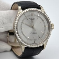 Rolex Cellini Time White gold 39mm Silver No numerals United States of America, New York, New York
