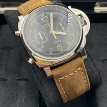 Panerai Luminor 1950 3 Days Chrono Flyback pre-owned 44mm Black Chronograph Leather