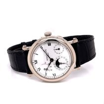 Patek Philippe Complications (submodel) pre-owned 36mm White Moon phase Date Crocodile skin