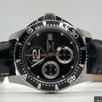 Longines HydroConquest pre-owned 41mm Black Chronograph Date Steel