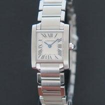 Cartier Tank Française новые 2021 Кварцевые Часы с оригинальными документами и коробкой W51008Q3