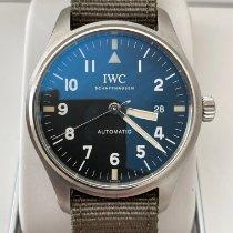 IWC Fliegeruhr Mark gebraucht 40mm Schwarz Datum Textil