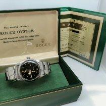 Rolex Oyster Precision Steel 34mm Black Arabic numerals