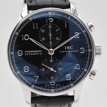 IWC Portuguese Chronograph Steel Black Arabic numerals