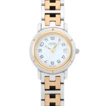 Hermès Stal Kwarcowy Biały 24mm używany Clipper