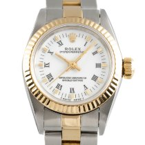 Rolex Oyster Perpetual Gold/Steel 24mm White