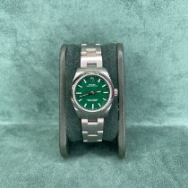 Rolex Oyster Perpetual 31 Acciaio 31mm Verde Senza numeri Italia, Saronno
