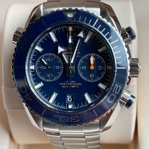 Omega Seamaster Planet Ocean Chronograph Acero 45.5mm Azul Arábigos