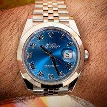 Rolex Datejust Acier 41mm Bleu Romains France, Nice
