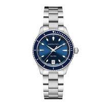 Hamilton Женские часы Jazzmaster Seaview 37mm Кварцевые новые Часы с оригинальными документами и коробкой 2018