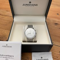 Junghans max bill Chronoscope pre-owned 40mm Silver Chronograph Date Steel