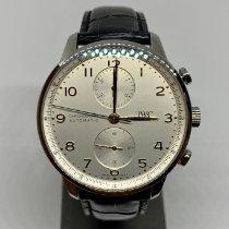 IWC Portuguese Chronograph Acier 41mm Argent Arabes