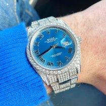 Rolex Datejust II Steel 41mm Blue No numerals