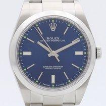 Rolex Oyster Perpetual 39 Acciaio 39mm Blu Senza numeri Italia, Roma, eOrologi