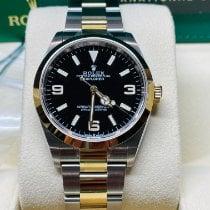 Rolex Explorer Золото/Cталь 36mm Черный Aрабские