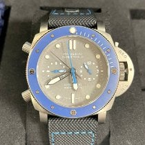 Panerai Luminor Submersible pre-owned 47mm Grey Rubber