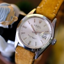 Rolex Oyster Precision pre-owned 34mm Silver Date Leather