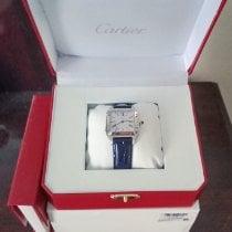 Cartier Santos Dumont pre-owned 38mm Silver Crocodile skin