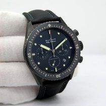 Blancpain Fifty Fathoms Bathyscaphe gebraucht Schwarz Chronograph Flyback-Funktion Datum Textil