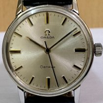 Omega Genève Steel 34mm Silver No numerals