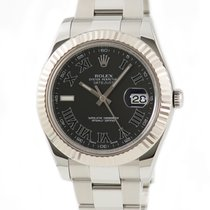 Rolex White gold Automatic Black 41mm pre-owned Datejust II