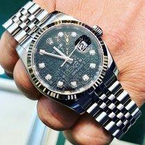 Rolex Datejust Сталь 36mm Черный