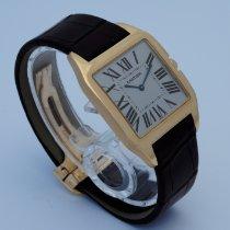 Cartier Santos Dumont Pозовое золото 35mm Белый Римские