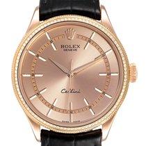 Rolex Cellini Time подержанные 39mm Розовый Кожа аллигатора