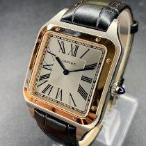 Cartier Santos Dumont Золото/Cталь 46.6mm Cеребро