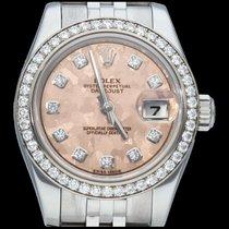 Rolex Lady-Datejust Acier 26mm Rose Sans chiffres Belgique, Brussel
