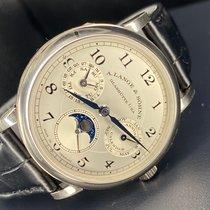 A. Lange & Söhne Platinum Automatic Silver 38.5mm new Saxonia