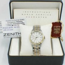 Zenith Elite pre-owned 38mm White Gold/Steel