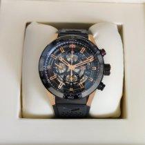 TAG Heuer Carrera Calibre HEUER 01 gebraucht 43mm Schwarz Chronograph Datum Tachymeter Kautschuk