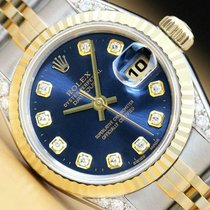 Rolex Lady-Datejust Сталь 26mm Синий